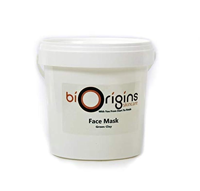 徒歩で膜スカリーFace Mask - Green Clay - Botanical Skincare Base - 1Kg