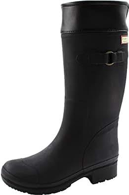 (ヒロミチナカノ) hiromichi nakano HN WJ114R 子供 キッズ ジュニア ロング レインブーツ 長靴 (19.0cm, ブラック)