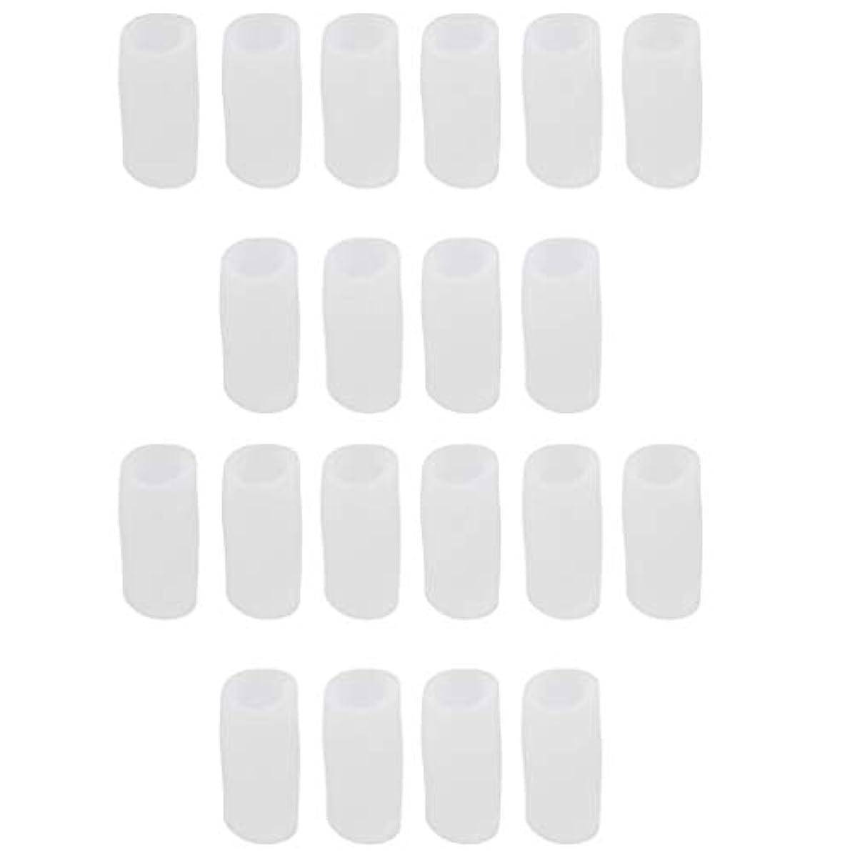 くびれた郵便物爬虫類足指保護キャップ つま先プロテクター つま先 キャップ シリカゲル 柔軟性 洗える 20個 全2サイズ - S