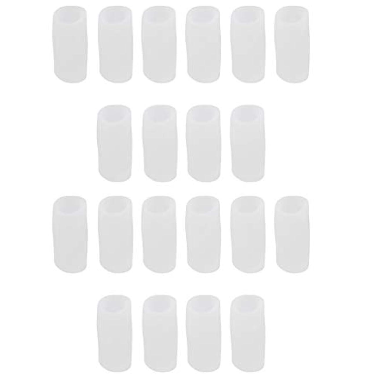 ガード排除する出発dailymall 20個入りシリコンジェルトウプロテクターキャップ足の陥入爪用クッションコーンブリスターハンマートウ - S