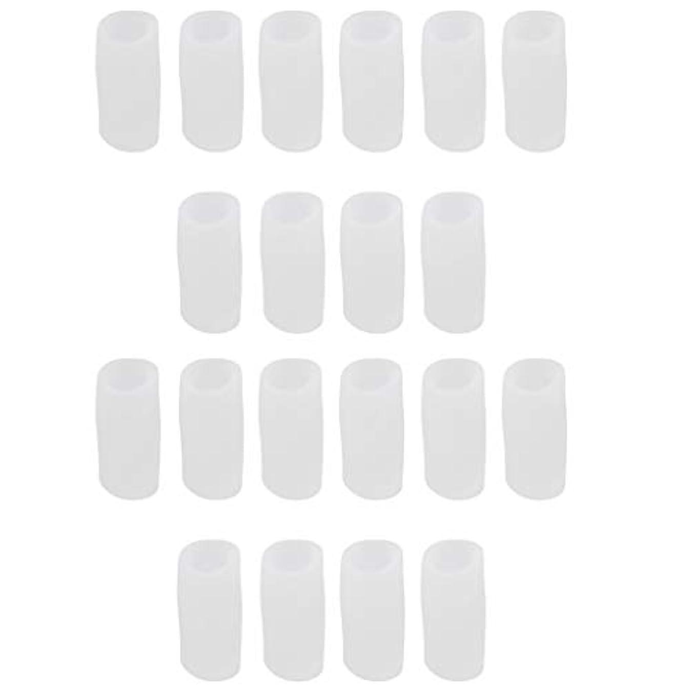 アルファベット建築くぼみ足指保護キャップ つま先プロテクター 洗える 便利 約20個セット 全2サイズ - S
