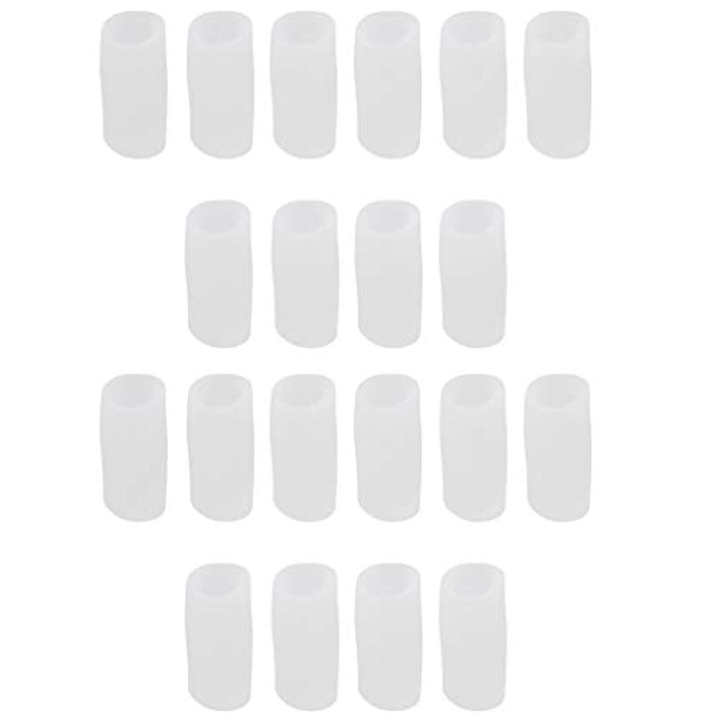 ウナギベール技術者足指保護キャップ つま先プロテクター 洗える 便利 約20個セット 全2サイズ - S
