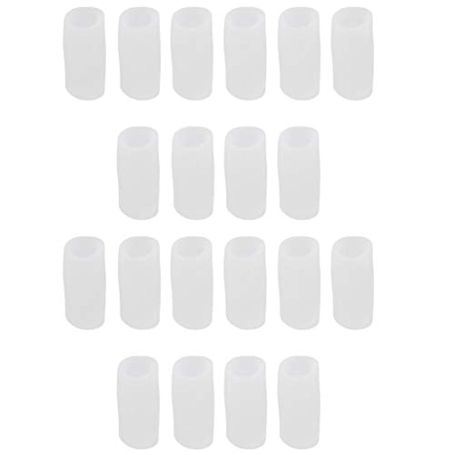 バイオリニスト省略する広範囲CUTICATE 足指保護キャップ つま先プロテクター つま先 キャップ シリカゲル 柔軟性 洗える 20個 全2サイズ - S