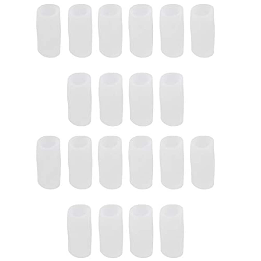 電子体操選手特権的足指保護キャップ つま先プロテクター 洗える 便利 約20個セット 全2サイズ - S