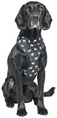 MOG & BONE Neoprene Dog Harness Black Dog Print