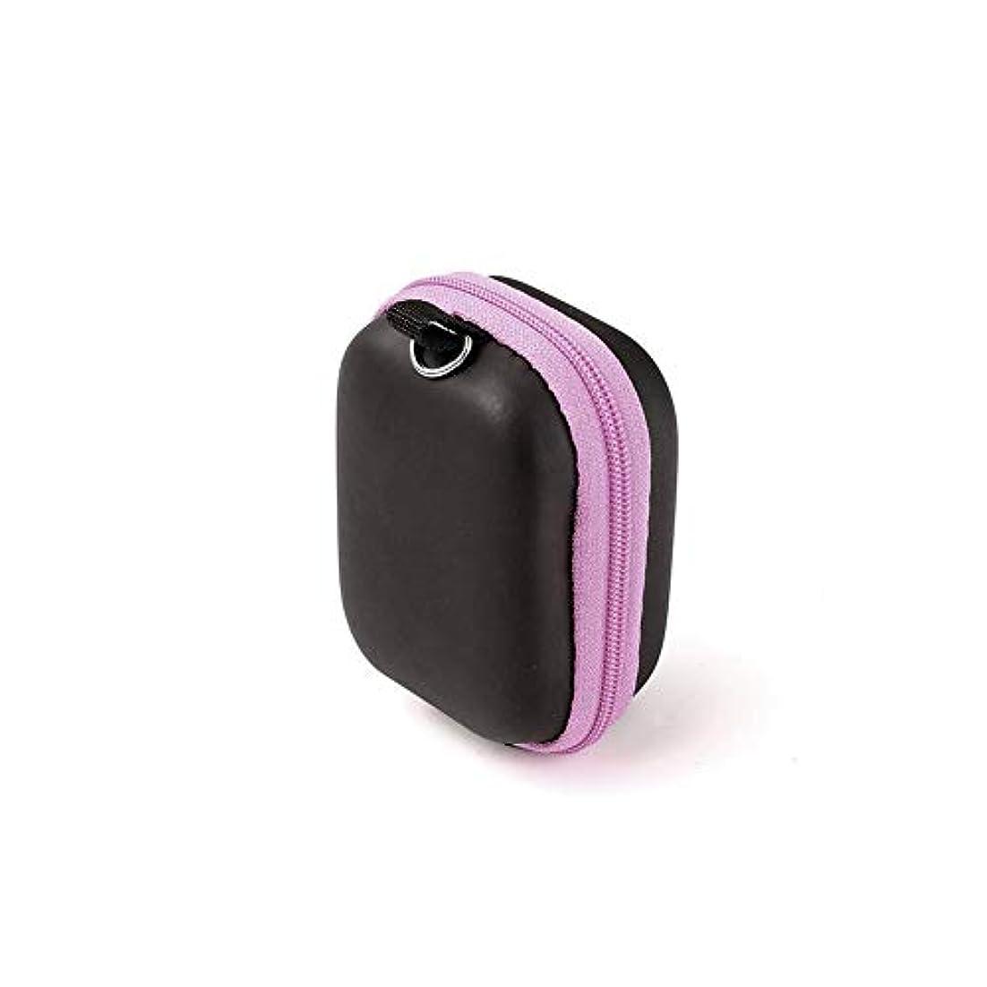 区浸食わかりやすいPursue エッセンシャルオイル収納ケース アロマオイル収納ボックス アロマポーチ収納ケース 耐震 携帯便利 香水収納ポーチ 化粧ポーチ 6本用