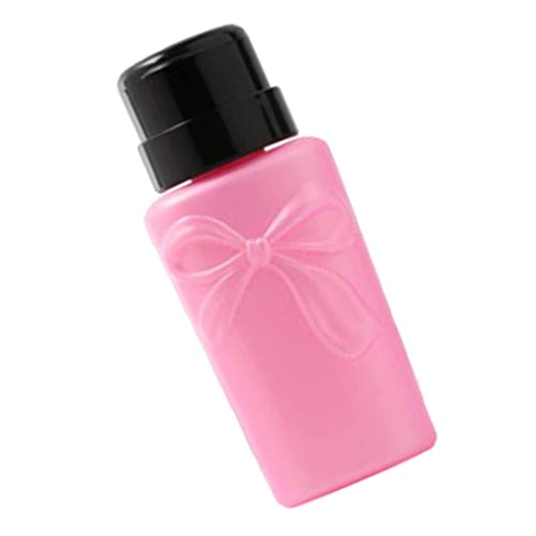 ピッチャー出発破壊するgazechimp 全2色 プラスチック製 ネイルアートディスペンサーボトル 空のプレスボトル - ピンク