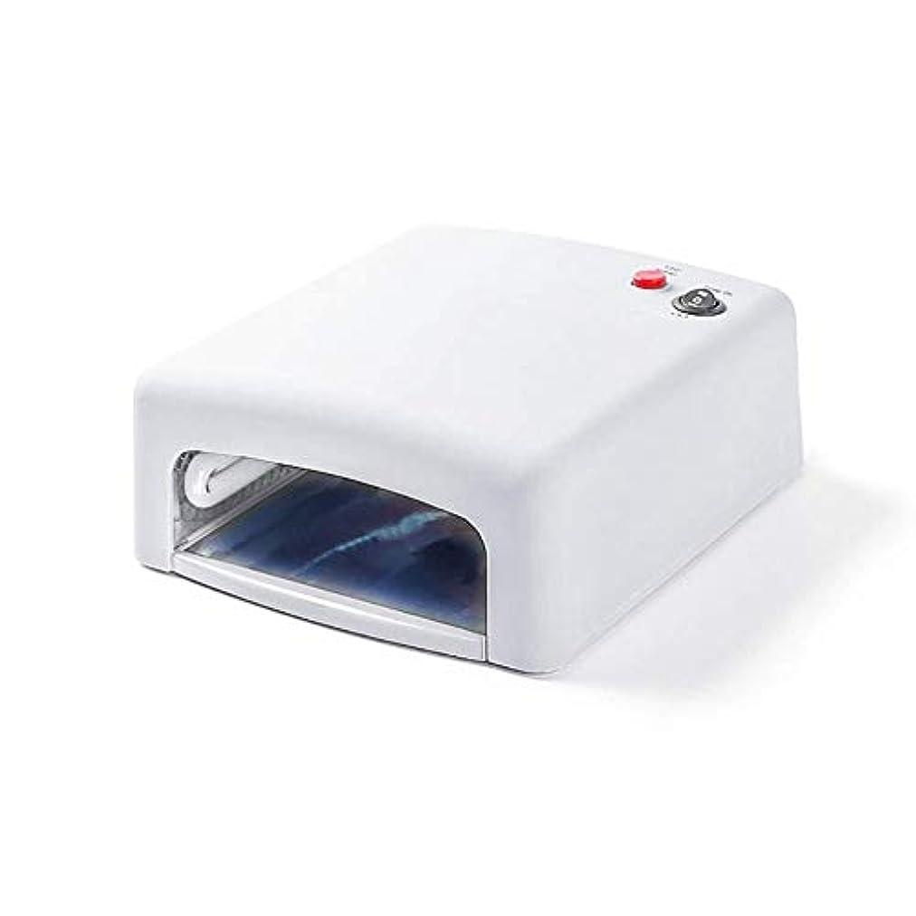 心配するゾーンシングルネイルランプネイル光線療法ランプ36ワットUVランプタイミングをとることができますネイルランプクイック乾燥(ホワイトピンク)、ピンク (Color : White)
