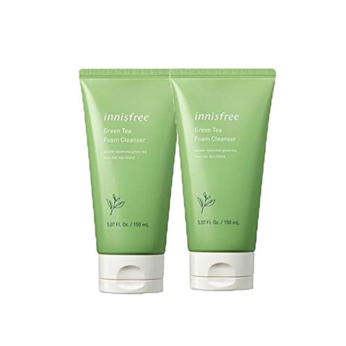 健全基本的なスーパーイニスフリーグリーンティーフォームクレンザー150mlx2本セット韓国コスメ、innisfree Green Tea Foam Cleanser 150ml x 2ea Set Korean Cosmetics [並行輸入品]