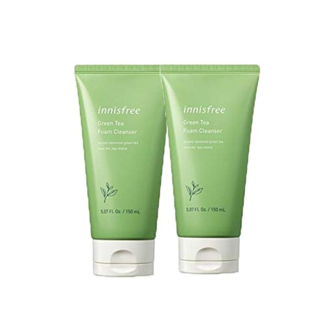 適性パレードシャーイニスフリーグリーンティーフォームクレンザー150mlx2本セット韓国コスメ、innisfree Green Tea Foam Cleanser 150ml x 2ea Set Korean Cosmetics [並行輸入品]