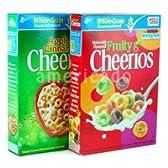 Cheerios チェリオス (アップルシナモン1箱+フルーティーオーツ麦シリアル1箱) [並行輸入品]