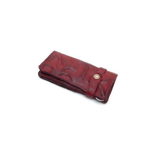 MR.OLIVE(ミスターオリーブ) ME102-RED レッド レザーウォレット/ロング/ウォッシュレザー/シワ加工/牛革 長財布