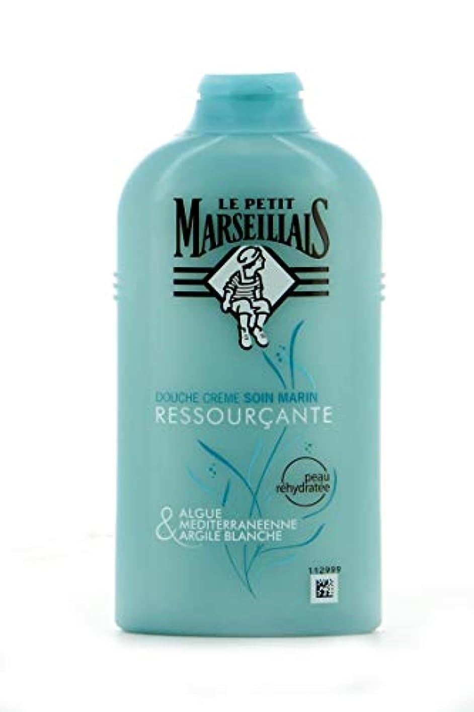 教会日付体ル?プティ?マルセイユ(Le Petit Marseillais)海藻と地中海ホワイトクレイ シャワー ケアクリーム ボディウォッシュ 250ml