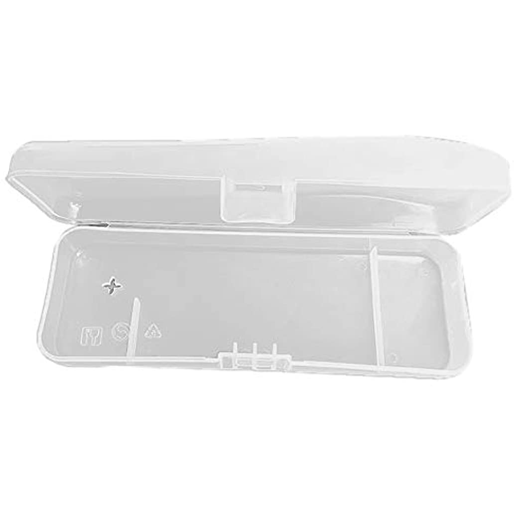 浴室レンズ外交RETYLY 1個旅行ダブルエッジかみそり収納ボックス男性シェーバーケースかみそりアクセサリー透明かみそりホルダー収納トラベルプラスチックケース