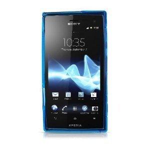 XPERIA acro HD アウトドアスタイル カバー ケース (docomo SO-03D / au IS12S 対応) Outdoor Style TPU Cover Case 【Clear Aqua Blue(青)】