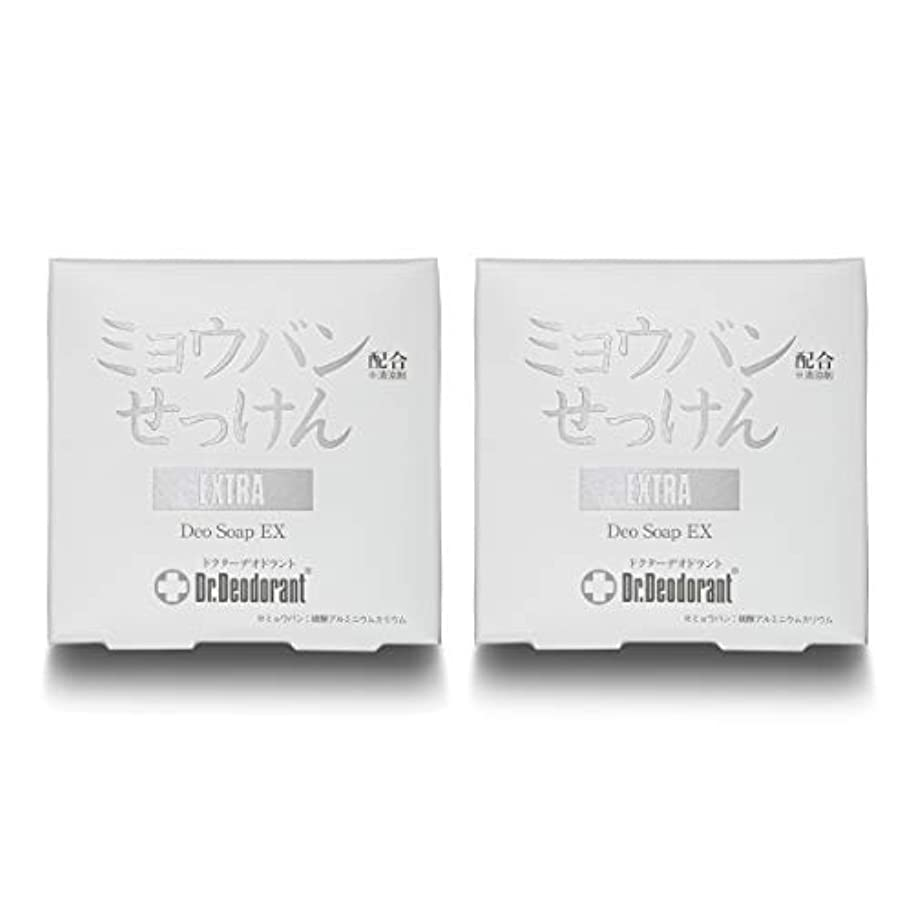 カップル韻歯ドクターデオドラント 薬用ミョウバンせっけんEX (2個セット)