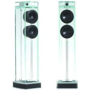 """【並行輸入品】Waterfall ウォーターフォール Audio オーディオ """"Niagara"""" Diamond ダイアモンド Glass Floor Standing LoudSpeaker ラウドスピーカー - Pair ペア"""