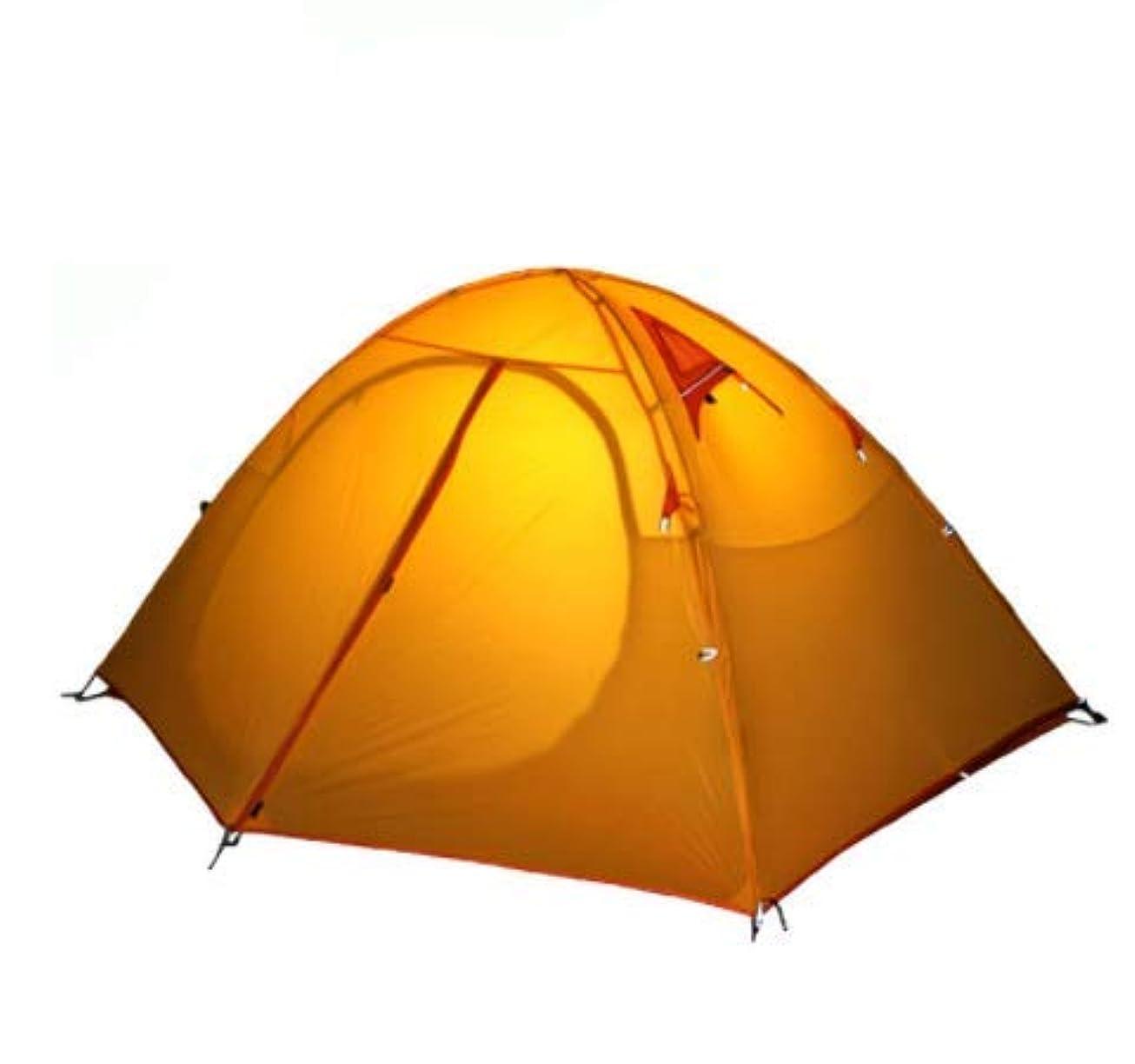 作家名前不格好Hkkint 超軽量ダブルデッキ屋外キャンプテント耐候性防水日焼け止めコーティングシリコーンオックスフォード簡単にインストールビーチ/クライミング/キャンプ/ピクニック
