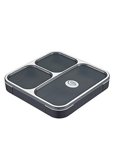 シービージャパン 弁当箱 クリアブラック 薄型 フードマン 800ml DSK