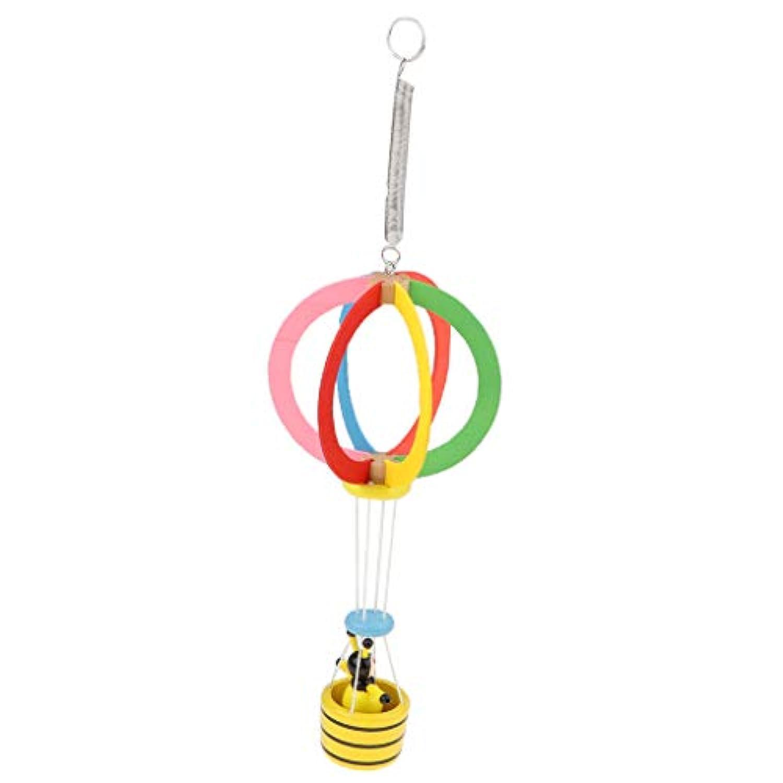 Baoblaze 木製 動物 風船 吊り玩具 ベビーベッド ベビーカー装飾 家装飾