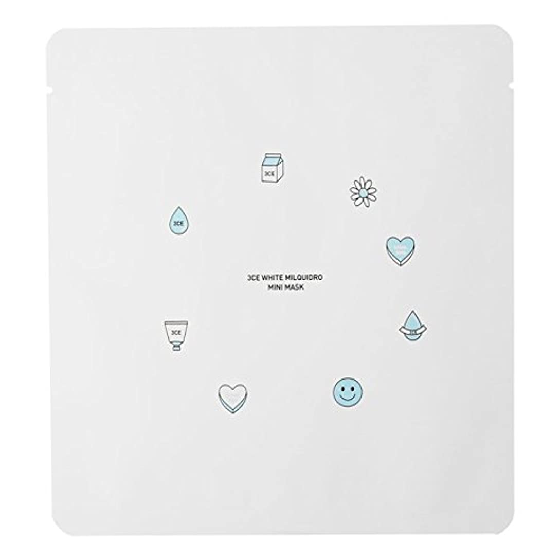 コンバーチブル懐和解する3CE WHITE MILQUIDRO MINI MASK 3ea / スリーコンセプトアイズ ホワイトミルキードロミニマスク 3ea [並行輸入品]