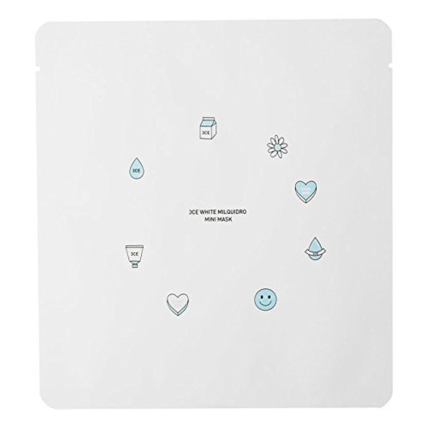 グリーンランドライド旋回3CE WHITE MILQUIDRO MINI MASK 3ea / スリーコンセプトアイズ ホワイトミルキードロミニマスク 3ea [並行輸入品]