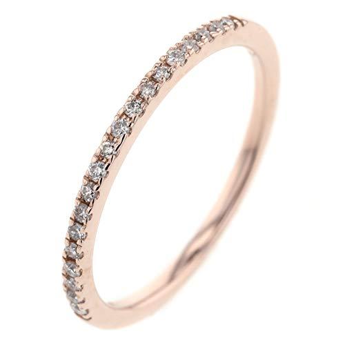 (スタージュエリー)STAR JEWELRY ハーフエタニティ ピンキー 0.09ct リング・指輪 K10ピンクゴールド/ダイヤモンド ダイヤモンド0.09ct レディース 中古