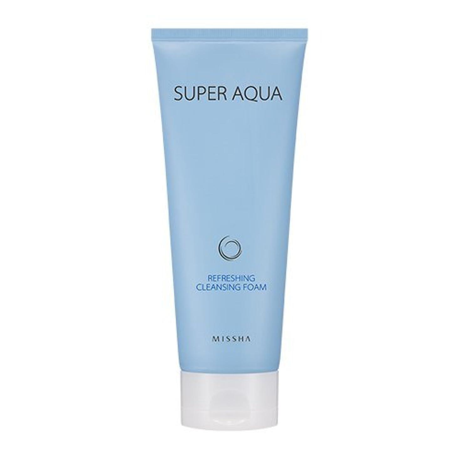 ほこりっぽいその後共同選択Missha Super Aqua Refreshing Cleansing Foam 6.76oz/200ml