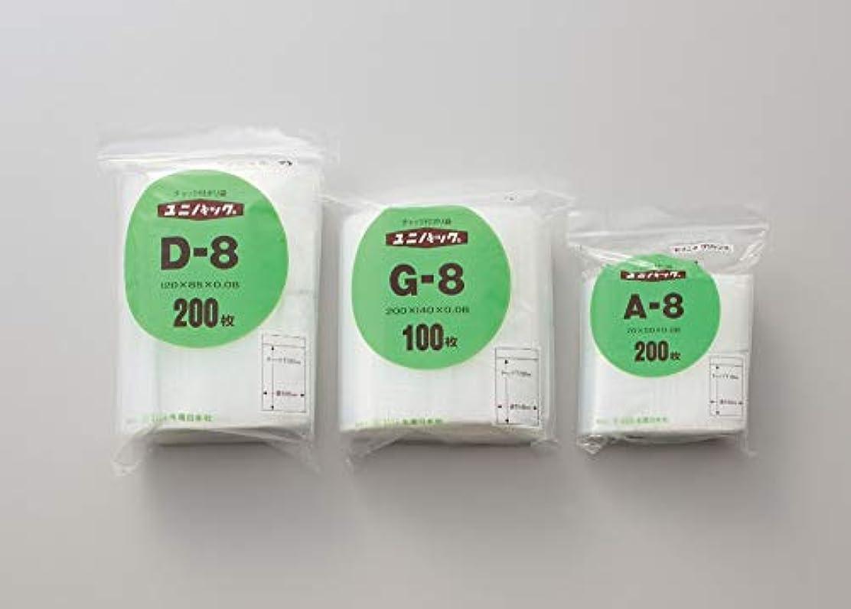 抽象化フェミニン化学ユニパック H-8 100枚入 単位:100枚入/袋