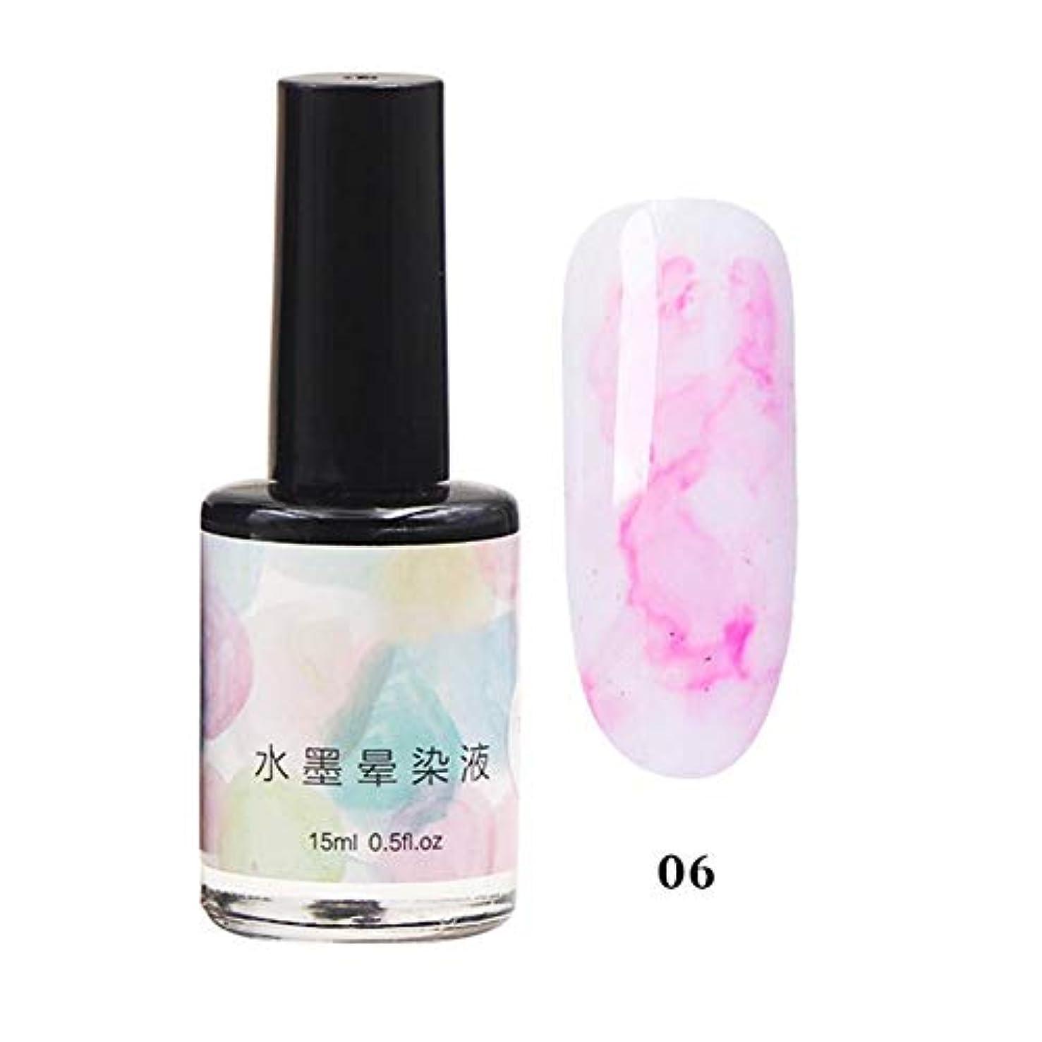 適応セブン優先11色選べる ネイルポリッシュ マニキュア ネイルアート 美しい 水墨柄 ネイルカラー 液体 爪に塗って乾かす 初心者でも簡単に使用できる junexi