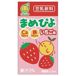 マルサン まめぴよ いちご味 125ml ×24本