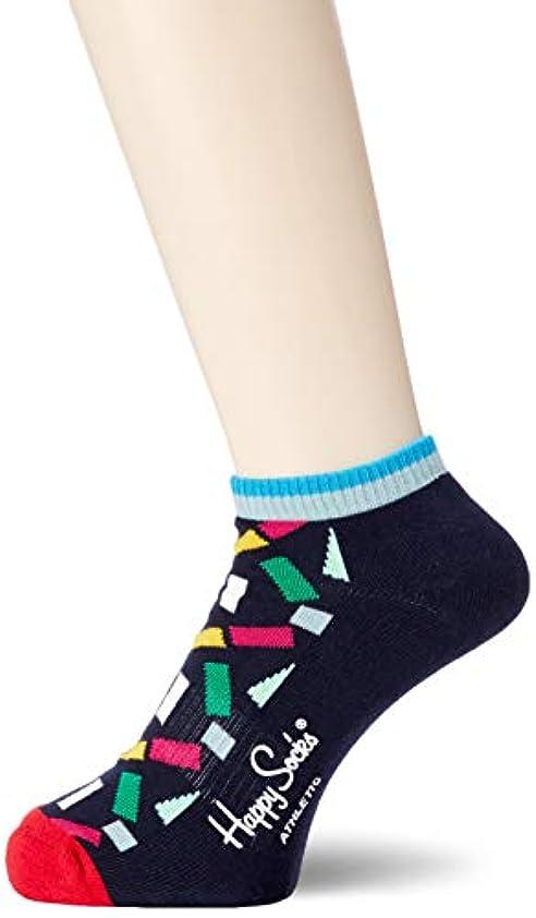 悲観的筋最大の[ハッピーソックス] ソックス Atlhletic Tiny Confetti Low Sock