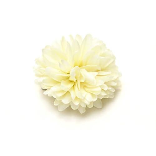 髪飾り カラフル ピンポンマム ピンポン菊 ポンポン菊 花 フラワー クリップ 浴衣向け ヘアアクセサリー