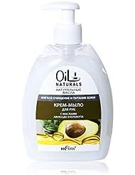 Bielita & Vitex Oil Naturals Line | Soft Cleansing & Nourishing Hand Cream-Soap, 400 ml | Avocado Oil, Silk Proteins...