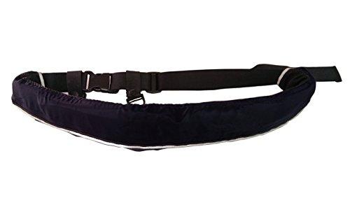 インフレータブルライフジャケット☆ベルトタイプ 手動膨張式 9色から選択可 (ブラック)