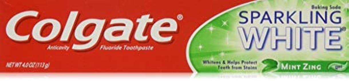 宣伝全体天国Colgate スパークリングホワイトミントジングジェルハミガキ、4オンス