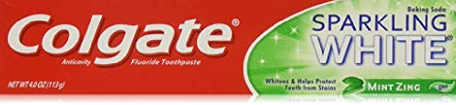 Colgate スパークリングホワイトミントジングジェルハミガキ、4オンス