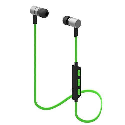 Hiearcool M5 Bluetoothイヤホン 防汗 スポーツイヤホン 外れにく ワイヤレスイヤホン(グリーン)