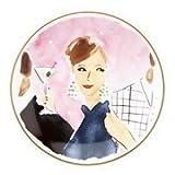 Kate Spade  ケイトスペード レノックス NY サーブウェア イラストレイテッド コレクション カクテル エニワン ティビット トレイ、プレート 皿 4枚セット  並行輸入品