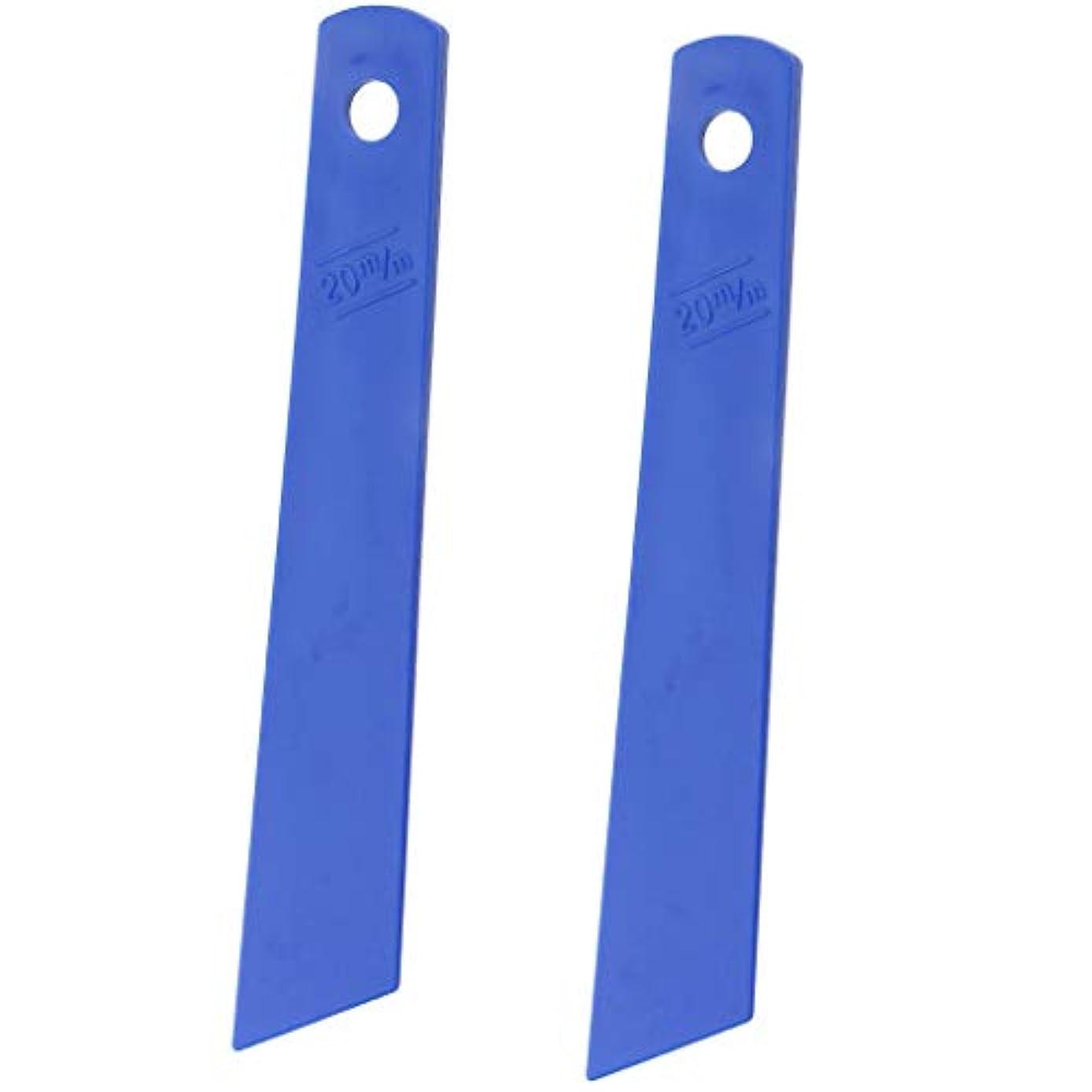 無臭霊移民DIYレザークラフトのための2本の青いプラスチックのり付けコーティングフィルムのり付けツール