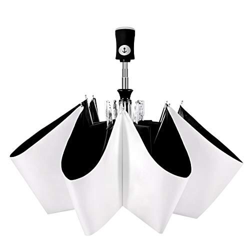 Cuby ハイグレード版 新世代革新的な骨 日傘 晴雨兼用 ワンタッチ 自動開閉 軽量 uvカット 紫外線遮蔽率99% 耐風撥水 携帯しやすい レディース メンズ 男女兼用 折り畳み傘 (CUT-3)