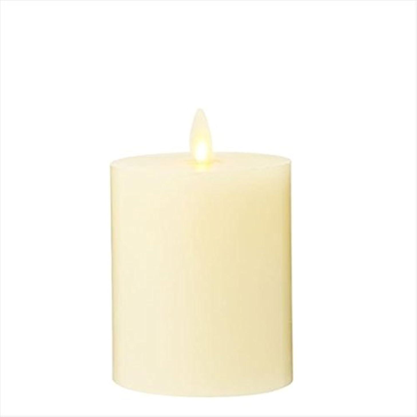ミルク吐き出す脇にLUMINARA(ルミナラ) LEDキャンドル LUMINARA(ルミナラ)フラットトップピラー3×4 「 アイボリー 」(03160010IV)