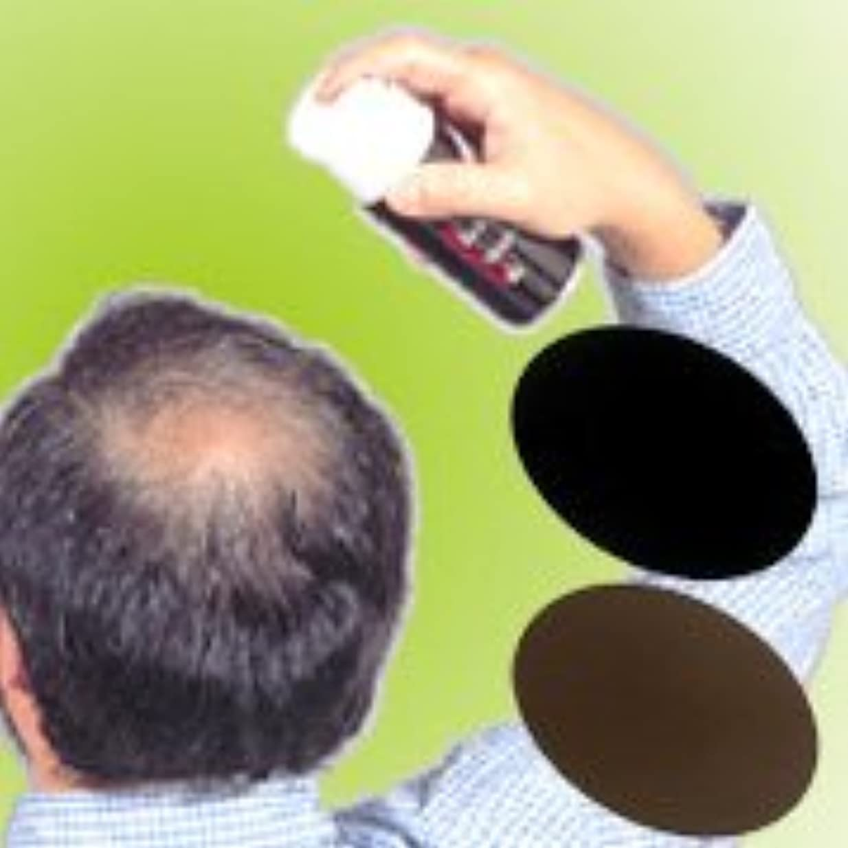 バトル便利さ有能な薄毛?白髪をワンタッチで隠します!男女兼用タイプの増毛スプレー!!【トミーリッチ ブラックヘアー】 (注意!商品の内訳は「ブラウン<数量12単位>」のみ)