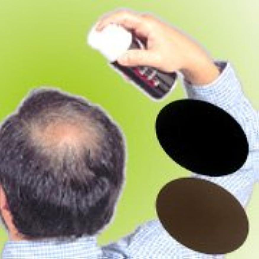 フィドルローブ不透明な薄毛?白髪をワンタッチで隠します!男女兼用タイプの増毛スプレー!!【トミーリッチ ブラックヘアー】 (こちらの商品の内訳は『ブラウン<数量36単位>』のみ)
