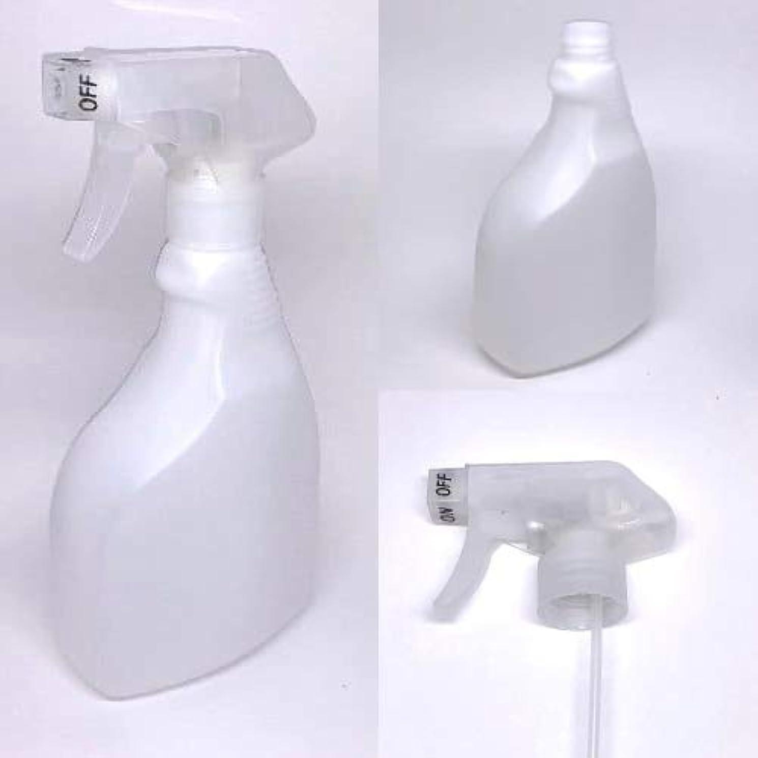 スプレーボトル 500ml/アルコール製剤、消毒用アルコール等の詰替えに (ナチュラルホワイト)【ボトル?容器】【いまじん】