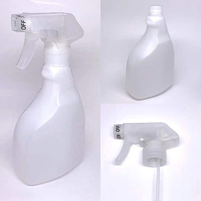 誘導台風細心のスプレーボトル 500ml/アルコール製剤、消毒用アルコール等の詰替えに (ナチュラルホワイト)【ボトル?容器】【いまじん】