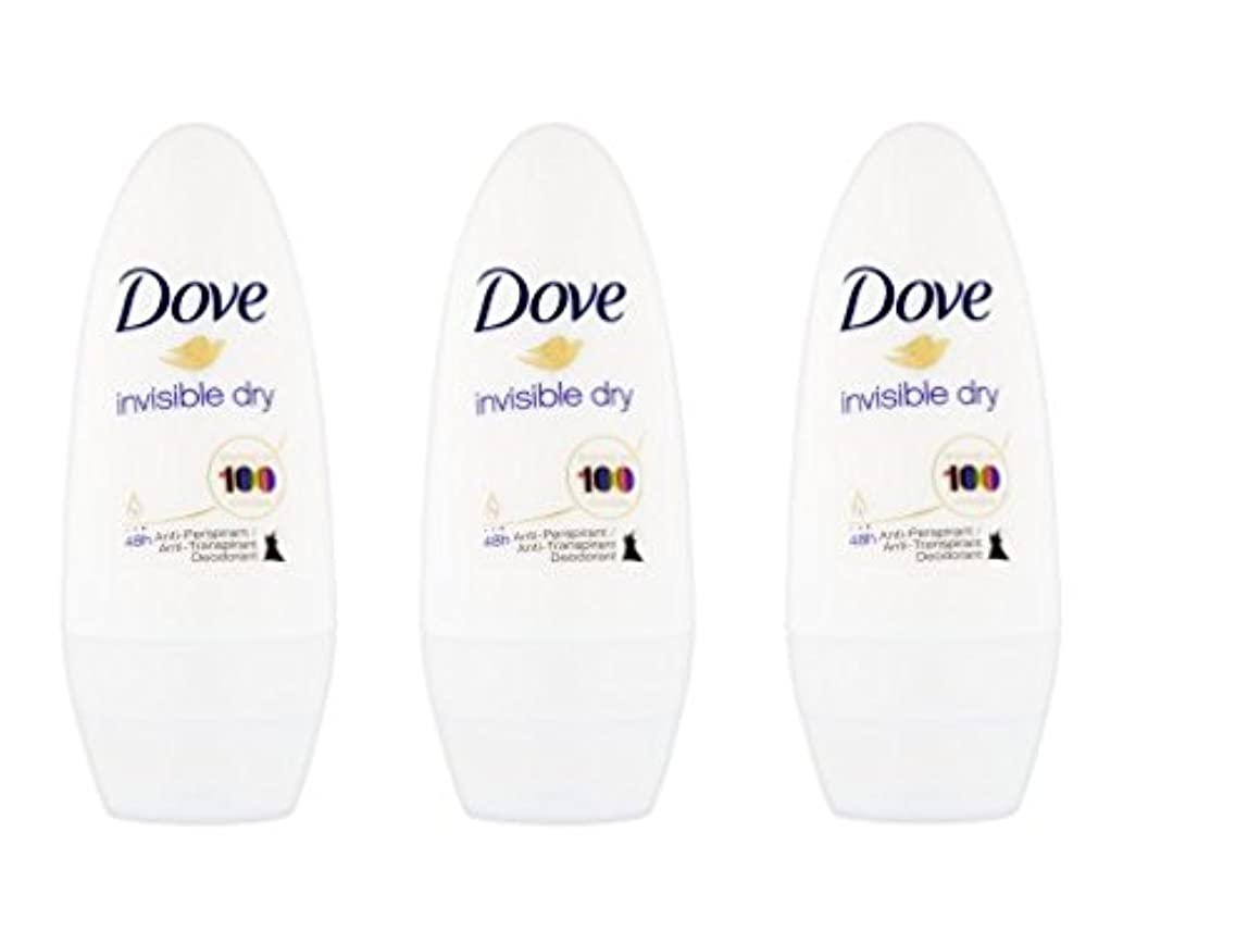 霜現実投資するDove Invisible Dry 48 Hs Anti-perspirant Roll-on Deodorant. 50 Ml. (Pack of 3) by Dove [並行輸入品]
