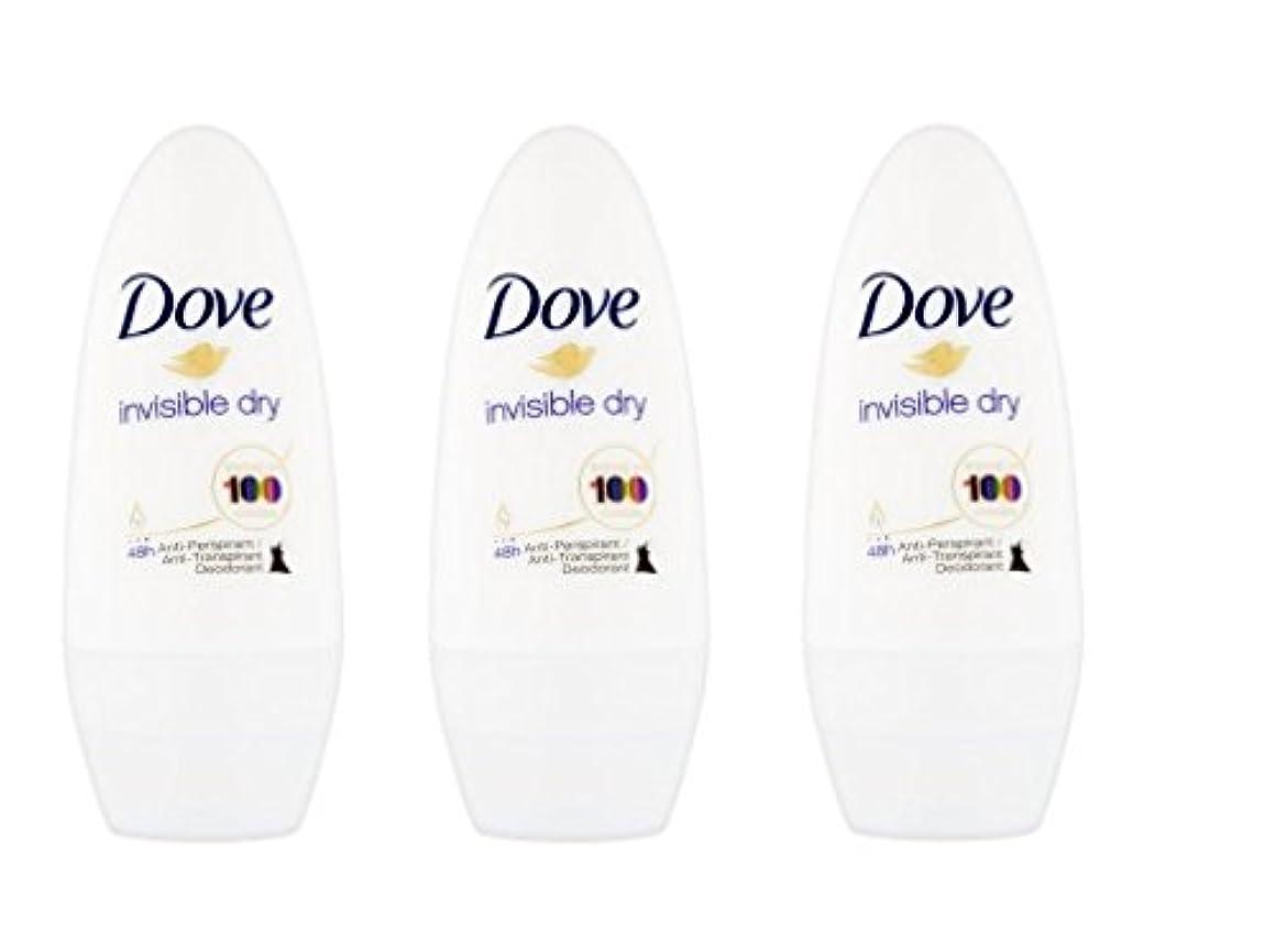 色合い学習者ルーDove Invisible Dry 48 Hs Anti-perspirant Roll-on Deodorant. 50 Ml. (Pack of 3) by Dove [並行輸入品]