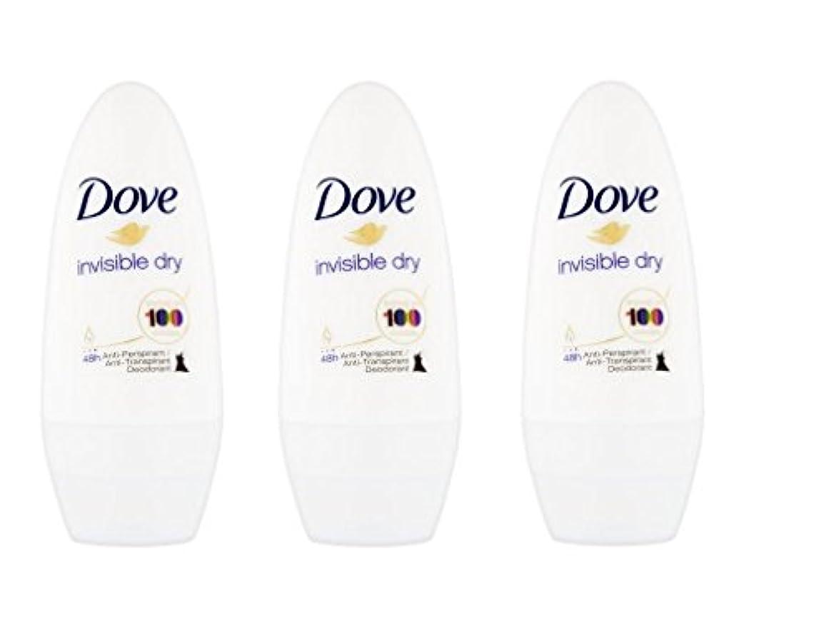 リル締め切り無条件Dove Invisible Dry 48 Hs Anti-perspirant Roll-on Deodorant. 50 Ml. (Pack of 3) by Dove [並行輸入品]