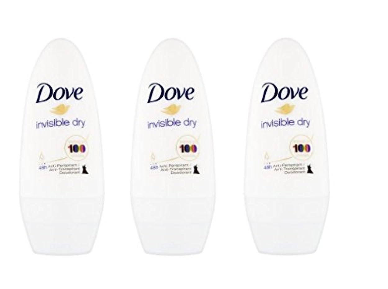 踊り子カードつなぐDove Invisible Dry 48 Hs Anti-perspirant Roll-on Deodorant. 50 Ml. (Pack of 3) by Dove [並行輸入品]